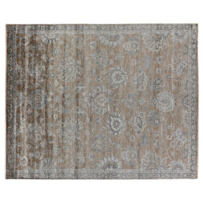 Antique Weave Hand Woven Silk Bronze/Gray Area Rug