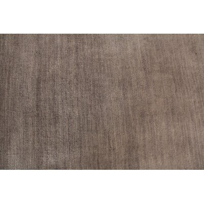 Hand Woven Wool Gray Area Rug Rug Size: Rectangle 10 x 14
