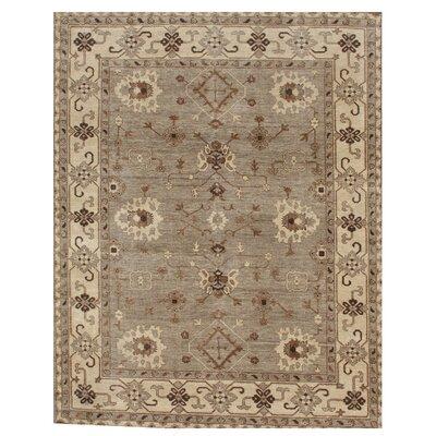 Oushak Hand Woven Wool Gray/Beige Area Rug