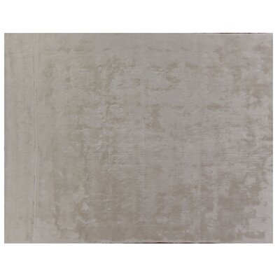Hand Woven Silk Ivory Area Rug Rug Size: Rectangle 6 x 9