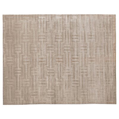 Smooch Hand Woven Silk Light Beige Area Rug Rug Size: Rectangle 14 x 18