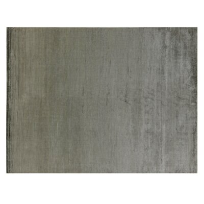 Hand Woven Silk Dark Gray Area Rug Rug Size: Rectangle 14 x 18