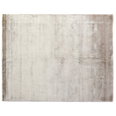 Softest Touch Hand Woven Silk Beige Area Rug Rug Size: Rectangle 14 x 18