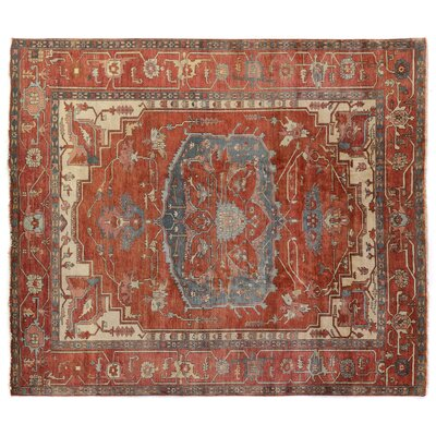 Serapi Hand Woven Wool Red/Rust Area Rug Rug Size: Rectangle 9 x 12