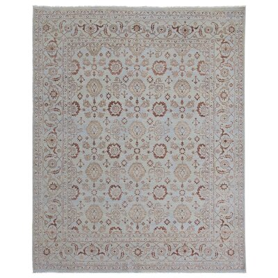 Hand Woven Silk Light Blue Area Rug Rug Size: Rectangle 10 x 14