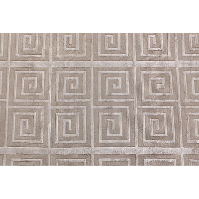 Greco Hand Woven Silk Beige Area Rug Rug Size: Rectangle 4 x 6
