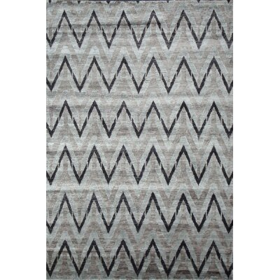 Hand Woven Silk Gray/Black Area Rug