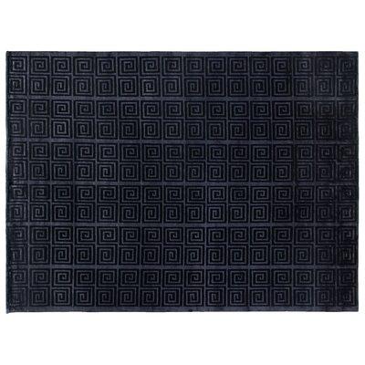 Metro Hand Woven Silk Navy Area Rug