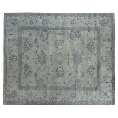 Overdyed Hand Woven Wool Denim Area Rug