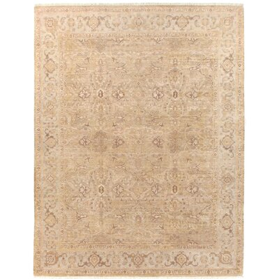 Ziegler Hand Woven Wool Camel/Beige Area Rug Rug Size: Rectangle 8 x 10