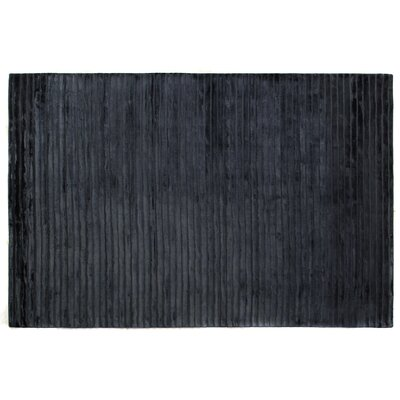 Wave Hand Woven Silk Navy Area Rug Rug Size: Rectangle 5 x 8