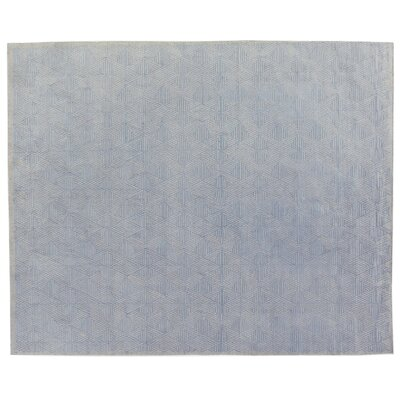 Pavillion Wool Blue/Silver Area Rug Rug Size: Rectangle 10 x 14