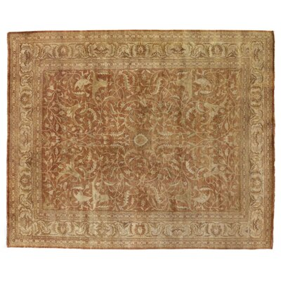 Sultanabad Hand Woven Wool Rust/Ivory Area Rug Rug Size: Rectangle 6' x 9'