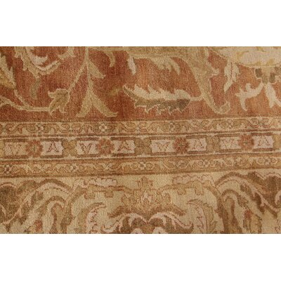 Sultanabad Hand Woven Wool Rust/Ivory Area Rug Rug Size: Rectangle 9 x 12