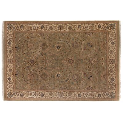 Traditional Hand Woven Wool Light Green/Gold Area Rug Rug Size: Rectangle 10 x 14
