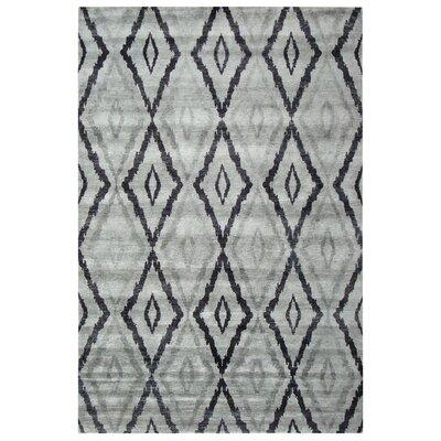 Hand Woven Silk Silver/Gray Area Rug
