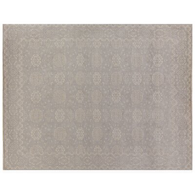 Restoration Hand-Knotted Wool Beige Area Rug Rug Size: Rectangle 12 x 15