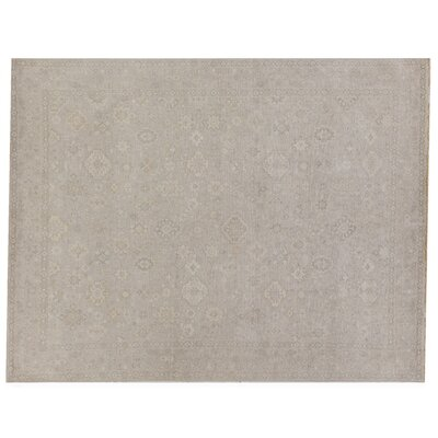 Restoration Hand-Knotted Wool Beige Area Rug Rug Size: Rectangle 6 x 9