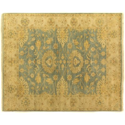 Oushak Hand Woven Wool Light Blue/Ivory Area Rug
