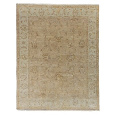 Ziegler Hand Woven Wool Gold/Camel Area Rug Rug Size: Rectangle 6 x 9