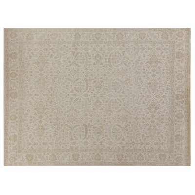 Restoration Hand-Knotted Wool Ivory Area Rug Rug Size: Rectangle 6 x 9