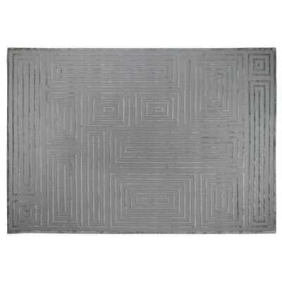 Metro Hand Woven Silk Aqua Area Rug Rug Size: Rectangle 9 x 12