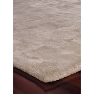 Hand Woven Silk Ivory Area Rug Rug Size: Rectangle 10 x 14
