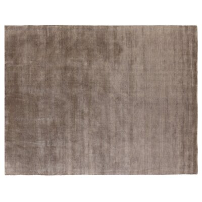 Hand Woven Wool Gray Area Rug Rug Size: Rectangle 6 x 9