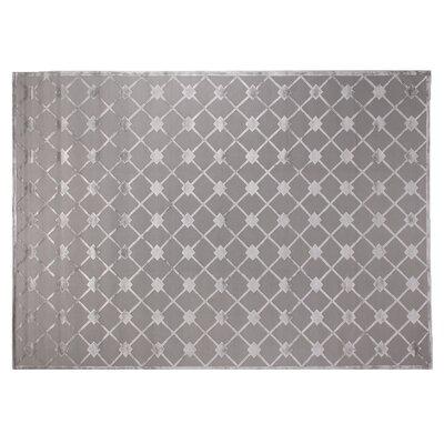 Metro Hand Woven Silk Silver Area Rug