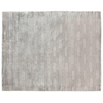 Hand Woven Silk Silver Area Rug
