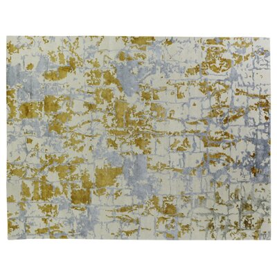 Cecily Hand-Knotted Green/Blue Area Rug Rug Size: Rectangle�10 x 14