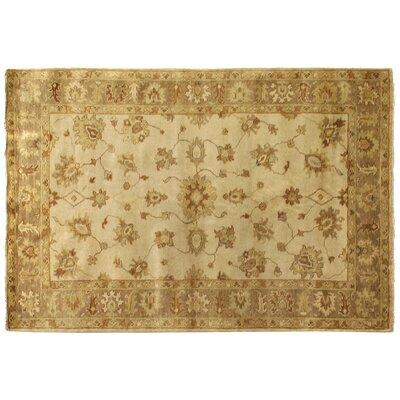 Oushak Hand Woven Wool Ivory/Beige Area Rug