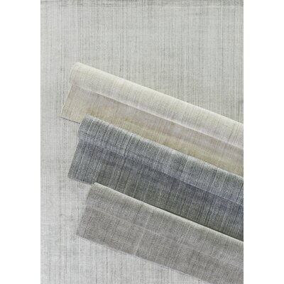 Robin Hand-Woven Silk Charcoal Area Rug Rug Size: Rectangle 9x12