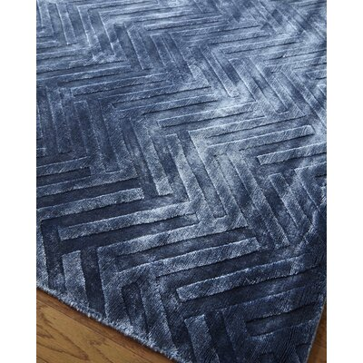 Smooch Carved Hand-Woven Blue Area Rug Rug Size: Rectangle 10 x 14