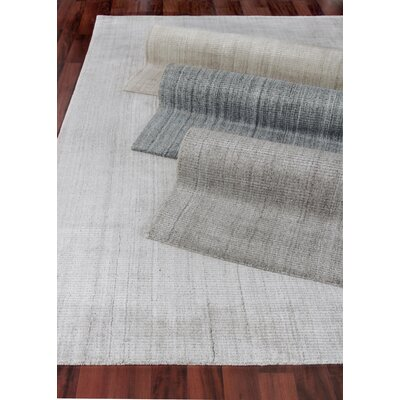 Robin Hand-Woven Silk Charcoal Area Rug Rug Size: Rectangle 6 x 9