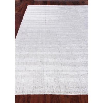 Robin Hand-Woven Silver Area Rug Rug Size: Rectangle 14 x 18