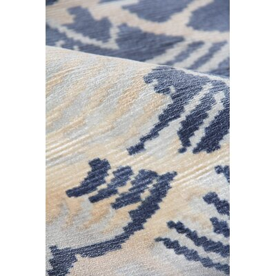 Koda Hand-Woven Ivory/Blue Area Rug Rug Size: Rectangle�5 x 8