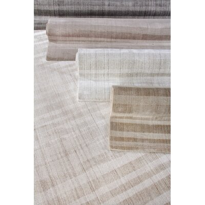 Robin Hand-Woven Light Beige Area Rug Rug Size: Rectangle 9 x 12