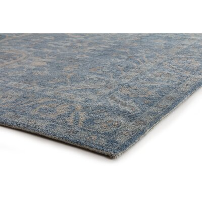 Serapi Hand-Knotted Wool Blue/Beige Area Rug Rug Size: Rectangle 10 x 14