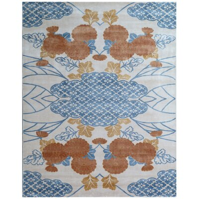 Koda Hand-Woven Orange/Blue Area Rug Rug Size: Rectangle 9 x 12