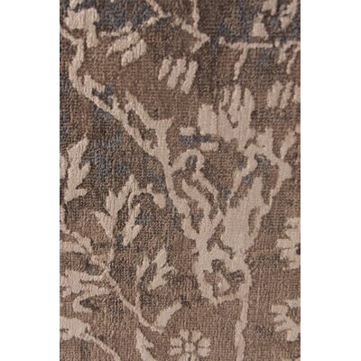 Hundley Hand-Knotted Brown/Beige Area Rug Rug Size: Rectangle�9 x 12