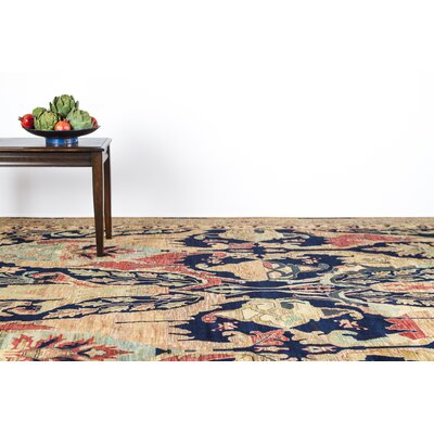 Jurassic Hand-Knotted Wool Blue/Brown Area Rug Rug Size: Rectangle�9 x 12