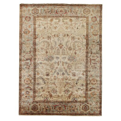 Serapi Hand-Knotted Wool Ivory/Light Blue Area Rug Rug Size: Rectangle 12 x 15