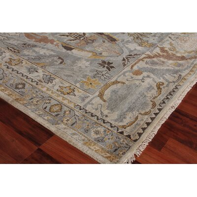 Jurassic Hand-Knotted Wool Gray/Beige Area Rug Rug Size: Rectangle�6 x 9