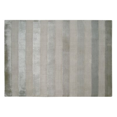 Tunnel Hand-Knotted Silk Silver/Beige Area Rug Rug Size: Rectangle 12 x 15