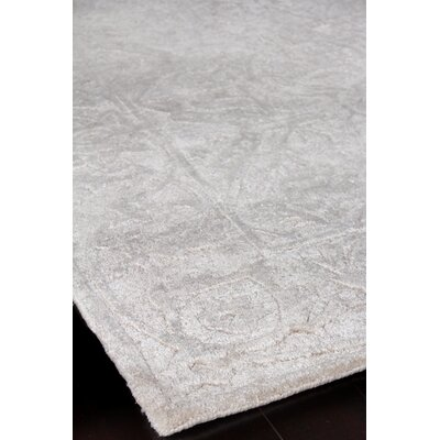 Iris Hand-Knotted Silver Area Rug Rug Size: Rectangle�8 x 10