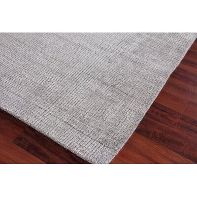 Robin Hand-Woven Silk Gray Area Rug Rug Size: Rectangle 10 x 14