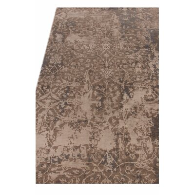 Hundley Hand-Knotted Brown/Beige Area Rug Rug Size: Rectangle�8 x 10