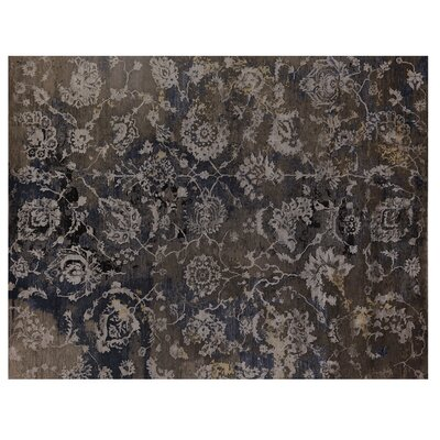 Hundley Hand-Knotted Brown/Blue Area Rug Rug Size: Rectangle�8 x 10