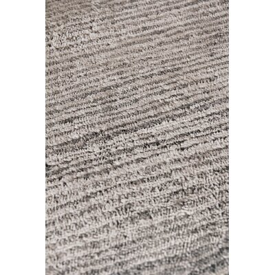 Crush Hand-Knotted Gray Area Rug Rug Size: Rectangle�12 x 15
